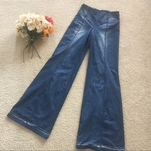 Lucy Distressted Flare Leg Jeggings Sz XS Pull On